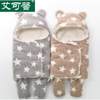 NEW AIKEXIN thick soft warm polar fleece fabric new born infant baby blanket swaddling M/L polyester parisarc wrap sleep bag