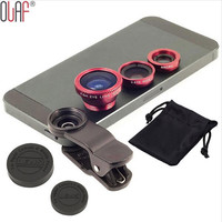 Wide-Angle Len kit Universal 3 In 1 Clip-on