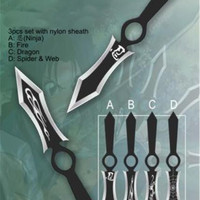 8 in 3 Pc Throwing Knife Set