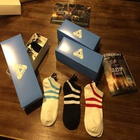 Sports Casual Cotton Summer Box Set Stripes Print Socks [10534277703]