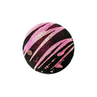 Anti-Valentines bath bomb, Tubby Tornado™ deep pink, drenched in black