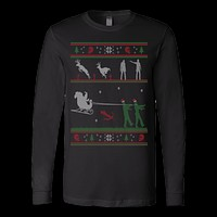 Ugly christmas sweater zombie