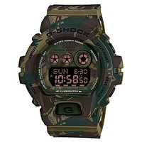 Casio G-Shock Mens Jungle Camouflage Watch - Flash Alert - 10 Yr battery - 200m