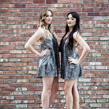 The Rumble Silver Sequin Dress