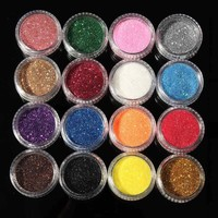 Professional 16 Mixed Colors Glitter Eyeshadow Eye Shadow Makeup Shiny Loose Glitter Powder Eyeshadow Cosmetic Make Up Pigment