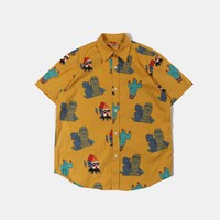 Tiki Head Freaka Button Down