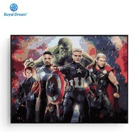 Wall Art Canvas The Avengers Picture Frame Wall Painting By Numbers Coloring By Number Kits Movie Poster