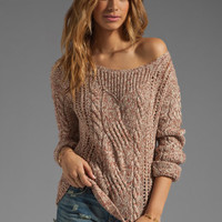 Free People Pegasus Yarn West End Pullover in Strawberry Combo from REVOLVEclothing.com