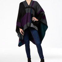Steve Madden Mondrian Colorblock Poncho - Handbags & Accessories - Macy's