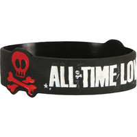 All Time Low Men's Carpol Rubber Bracelet Black