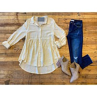 SALE! Sunshine Stripe Peplum Top