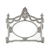 Marie Mirror in Antique Silver