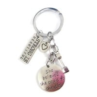 She Believed She Could Key Chain
