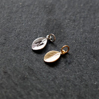 Add On Jewelry Charms. Personalized tree Gold / Silver Leaves. Hand Stamped Initials. Come with jump rings
