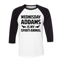 Wednesday Addams is My Spirit Animal Baseball Tee