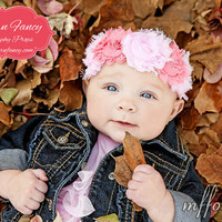 Roma Baby Girl Headband Shabby Flower Baby by littlelambshop