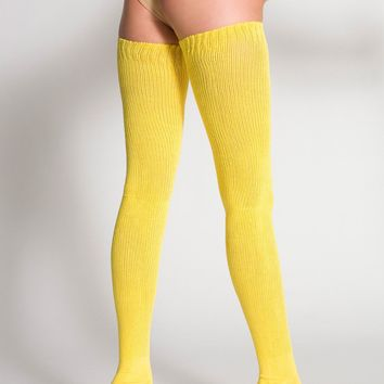 Cotton Solid Thigh High Socks American From American Apparel