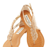 A Flight to See Sandal in Champagne | Mod Retro Vintage Sandals | ModCloth.com
