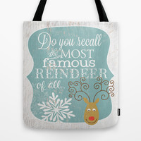Rudolph - Famous Reindeer Tote Bag by Misty Diller of Misty Michelle Design