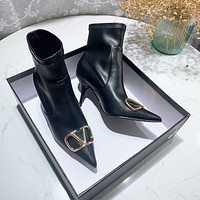 VALENTINO VLOGO SIGNATURE CALFSKIN ANKLE BOOT 80MM / 3.15 IN.