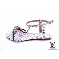 Louis Vuitton Women Flats Sandals Shoes-7