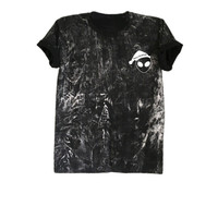 Alien shirt top funny Christmas shirts gifts hipster grunge tee tie dye tshirt size XS S M L
