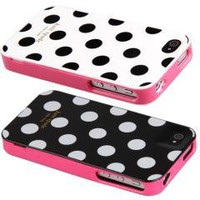 Polka Dots Skin Case Cover for iPhone 4 4S free shipping