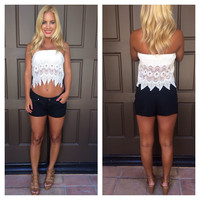 Lotus Web Crochet Tube Top