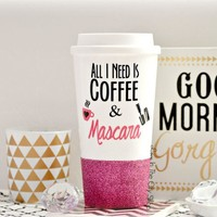 Coffee and Mascara Travel Mug