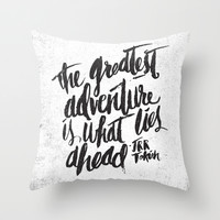 ...WHAT LIES AHEAD Throw Pillow by Matthew Taylor Wilson