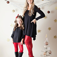 (Pre-Sale) Mommy Red Sequin Legging