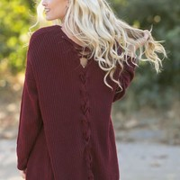Harley Burgundy Knit Cardigan