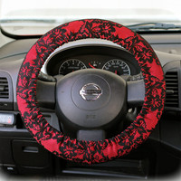 Steering Wheel Cover Bow Wheel Car Accessories Lilly Heated For Girls Interior Aztec Monogram Tribal Camo Cheetah Sterling Chevron Red Lace
