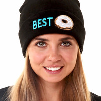 Best Friends Bagel Beanie