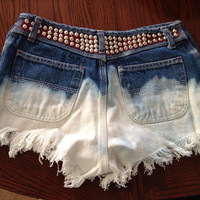 High Wasted Studded Americana Shorts by KaitlinsThings on Etsy