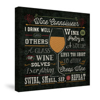 Wine Enthusiast II Canvas Wall Art