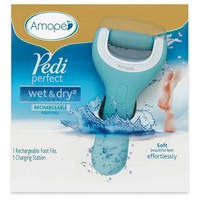 Amope Pedi Perfect Wet Dry Electronic Pedicure Foot File and Callus Remover- 1 Count