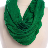 Simply Solid Infinity Scarf, Green