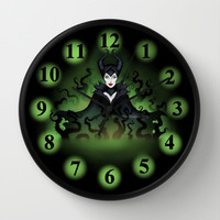 Maleficent 2014 Wall Clock by Katie Simpson   Society6