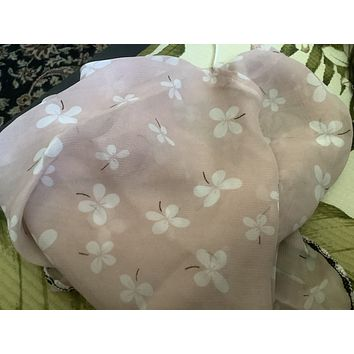 1 Fits All - Pink White - Face Mask Scarf