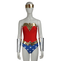 Wonder Woman Costume Superhero Costume Justice League Diana Prince Wonder Woman Cosplay Halloween Costumes for Women Custom Size