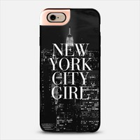 New York City Girl Black and White Skyline iPhone 6 Case iPhone 6 case by Rex Lambo | Casetify