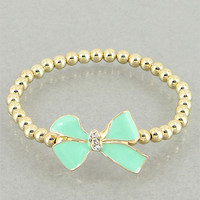 Jackie Mint Bow Bracelet from p.s. I Love You More Boutique