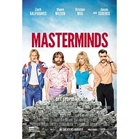 Masterminds 27x40 Movie Poster (2015)