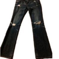 "Reduced!  Ag Jeans ""Angel"" Boot Cut Sz. 28 Distressed/ Destroyed Wash  (AG Adriano Goldschmied)"