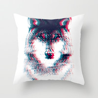 Act like a wolf.  Throw Pillow by Mason Denaro
