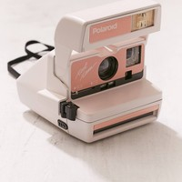 Peach Polaroid Camera