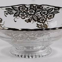Compote Round Low Handled in Blossom Time by Silver City