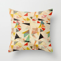 between shapes Throw Pillow by SpinL