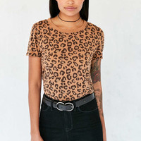 Truly Madly Deeply Marnie Leopard Tee - Urban Outfitters